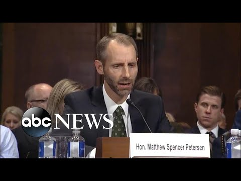 Federal judge nominee Matthew Peterson struggles under questioning