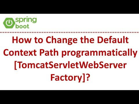 How To Change The Default Context Path Programmatically [TomcatServletWebServerFactory]?