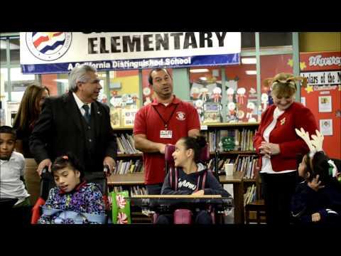 Santa Visits Carl Harvey Elementary School