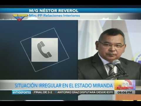 Reverol informa de asesinato de PoliMiranda durante protesta opositora en carretera Panamericana