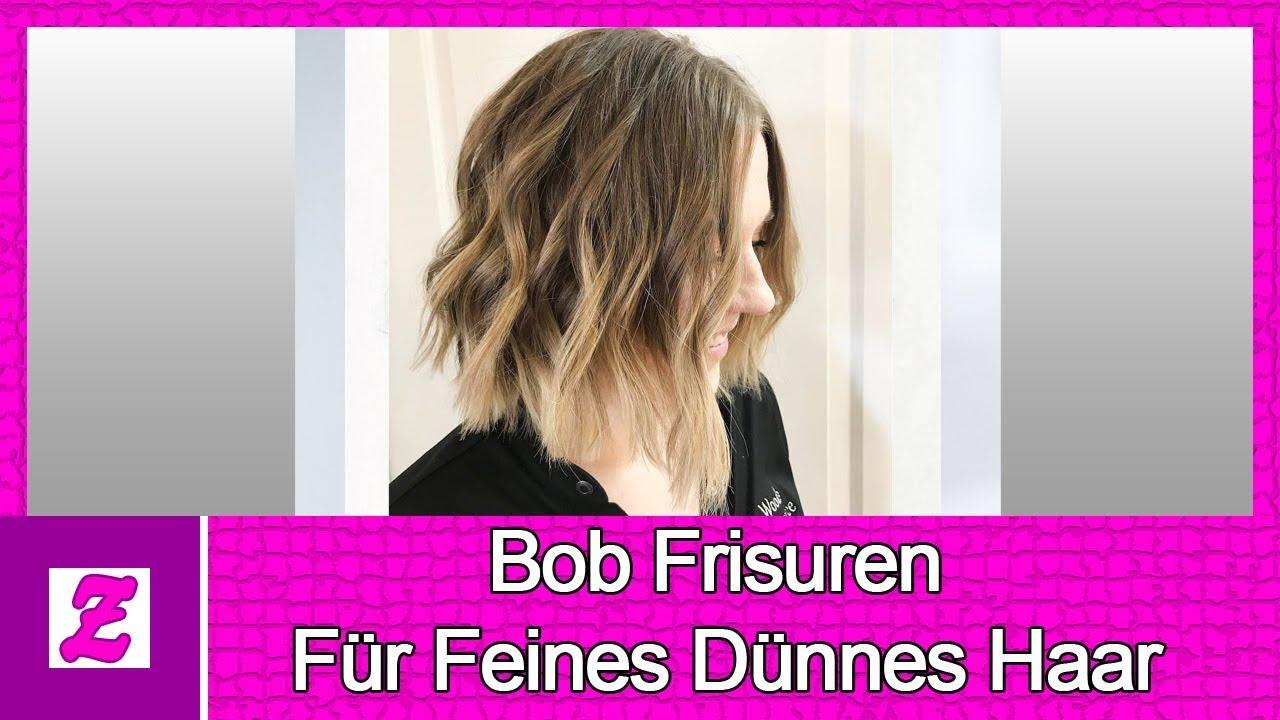 Frisuren bob fur dunnes haar