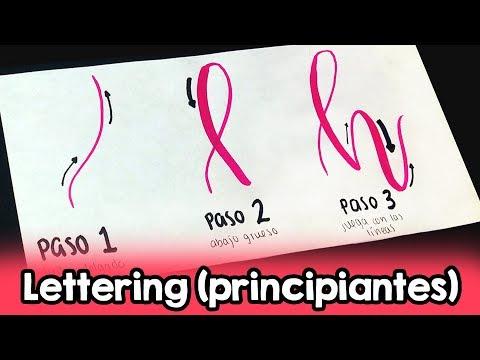 LETTERING (Principiantes) Paso a paso! ✄ Barbs Arenas Art!