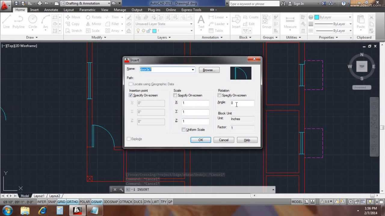... plan in autocad 2d youtube on how to draw a house plan in autocad 2014