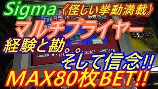 【メダルゲーム】Sigma マルチプライヤー MAX80枚BET!! 経験と勘。。そして信念!! (2018.09.19) thumbnail