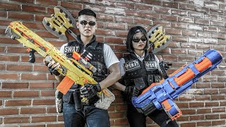 LTT Game Nerf War : Suicide Squad Warriors SEAL X Nerf Guns Fight Scammers Braum Crazy