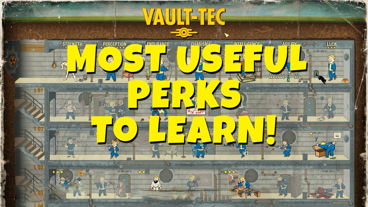 Fallout 4 - Most Useful PERKS to Learn Early in The Game