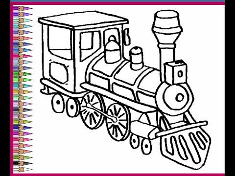 train coloring # 35
