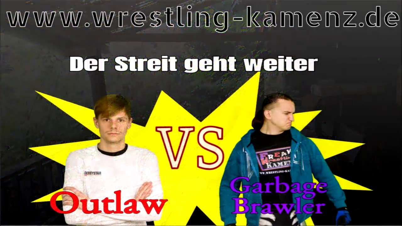extreme wrestling action outlaw vs garbage brawler youtube