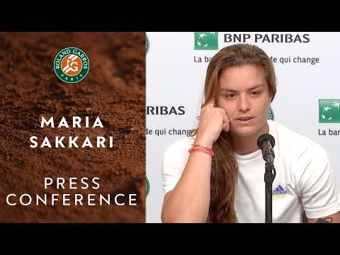Maria Sakkari - Press Conference after Semi-Final | Roland-Garros 2021