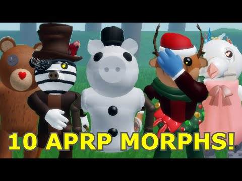 How To Get 10 APRP BADGE MORPHS/SKINS In THE PIGGY BATTLE! - Roblox
