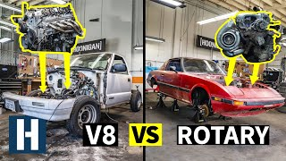 Build & Battle: Engines OUT! Rotary vs V8, What's the Fastest Budget Drag Racing Motor? EP.2