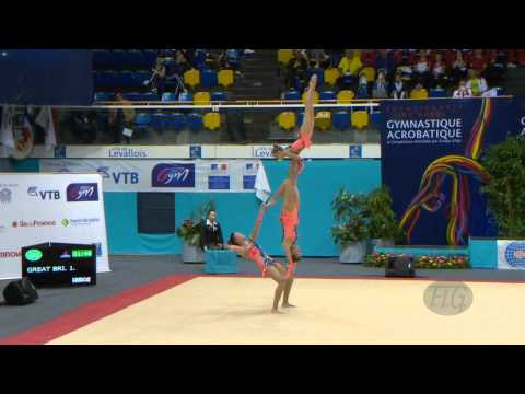 GREAT BRITAIN Women's Groups - Balance Qualifications  -- 2014 Acrobatic Worlds, Levallois (FRA)