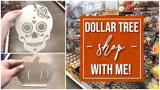 NEW Fall / Halloween @ Dollar Tree! | Shop With Me!