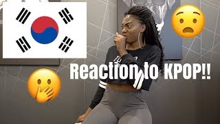 FIRST REACTION TO KPOP