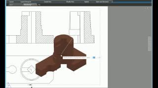 AutoCAD 2017. Комплексный чертеж детали. 3D