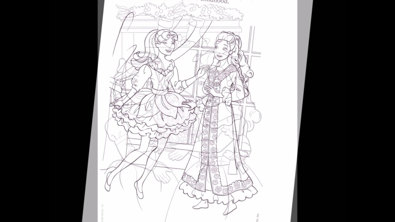 Barbie In A Christmas Carol Coloring Pages Movie Youtube