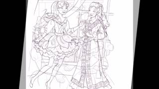 Barbie in a Christmas Carol Coloring Pages Movie