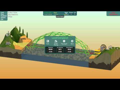 poly bridge ancient ruins all solution under budget build youtube. Black Bedroom Furniture Sets. Home Design Ideas
