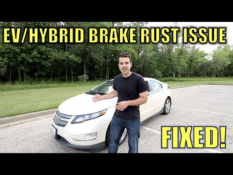 Fix Your Rusted Electric Car Or Hybrid Brakes For Free & With NO Tools!