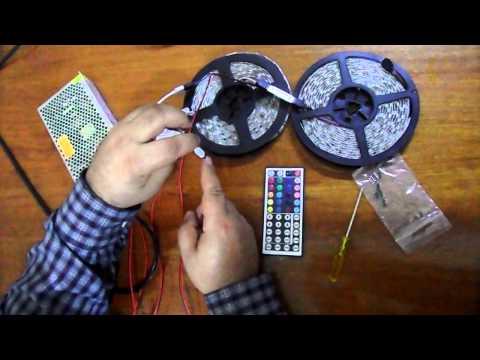 Como conectar 10m Tira de LED RGB 5050 (Amiyoled)