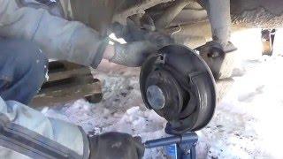 замена заднего амортизатора ваз 2111