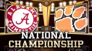National Championship 2017 Simulation Alabama vs Clemson (Xbox 360)