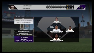 *** 2021 NLDS (GAME 4) *** MLB The Show 18 RTTS Giants Left Fielder
