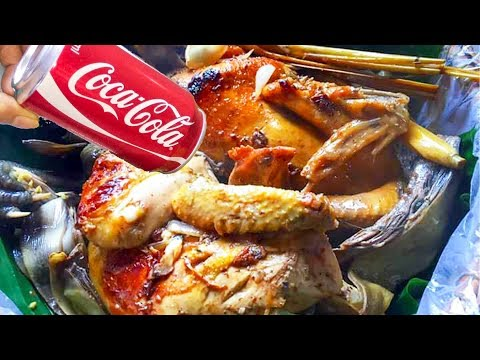 Roasted Duck with CoCaCola, Banana Flower and Cabbages – Asian Food Recipes, Cambodia Food Cooking