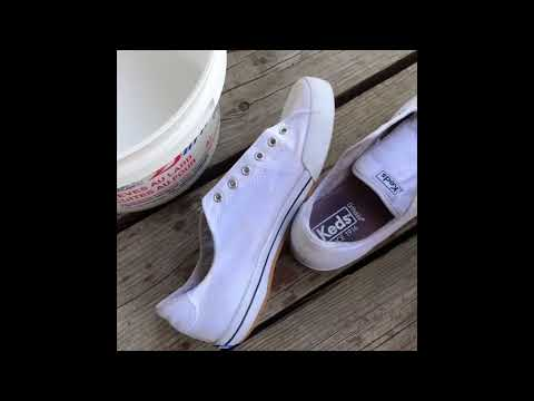 How to whiten bleach stained shoes