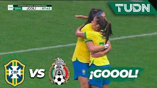 ¡Paren esto! Brasil domina a México | Brasil 5 - 0 México | Amistoso Femenil Internacional  | TUDN