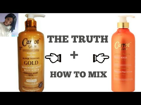 The Truth About Carrot Glow Shower Gel + How To Mix Carrot Glow Shower Gels With Whitening Additives