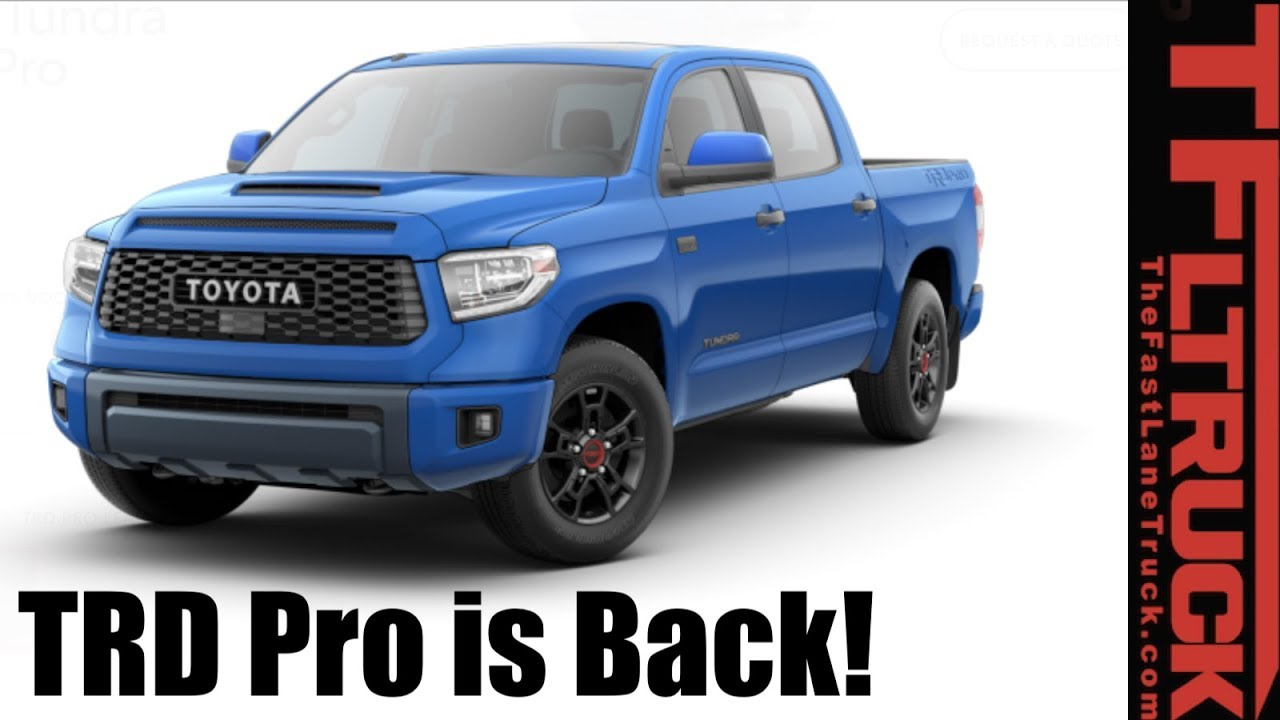 2019 Toyota Tundra: We Configure the Work Truck and the new TRD Pro