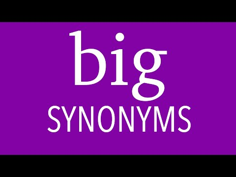 22 Other Ways To Say BIG | English SYNONYMS | Expand Your Vocabulary