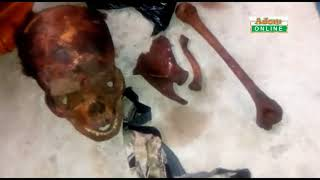 Video of Sakawa guy who was arrested with the skulls of a woman who died through Gas explosion