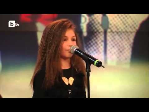 Krisiya Todorova  Real Talent Little girl Singing Listen by Beyonce  with Engl