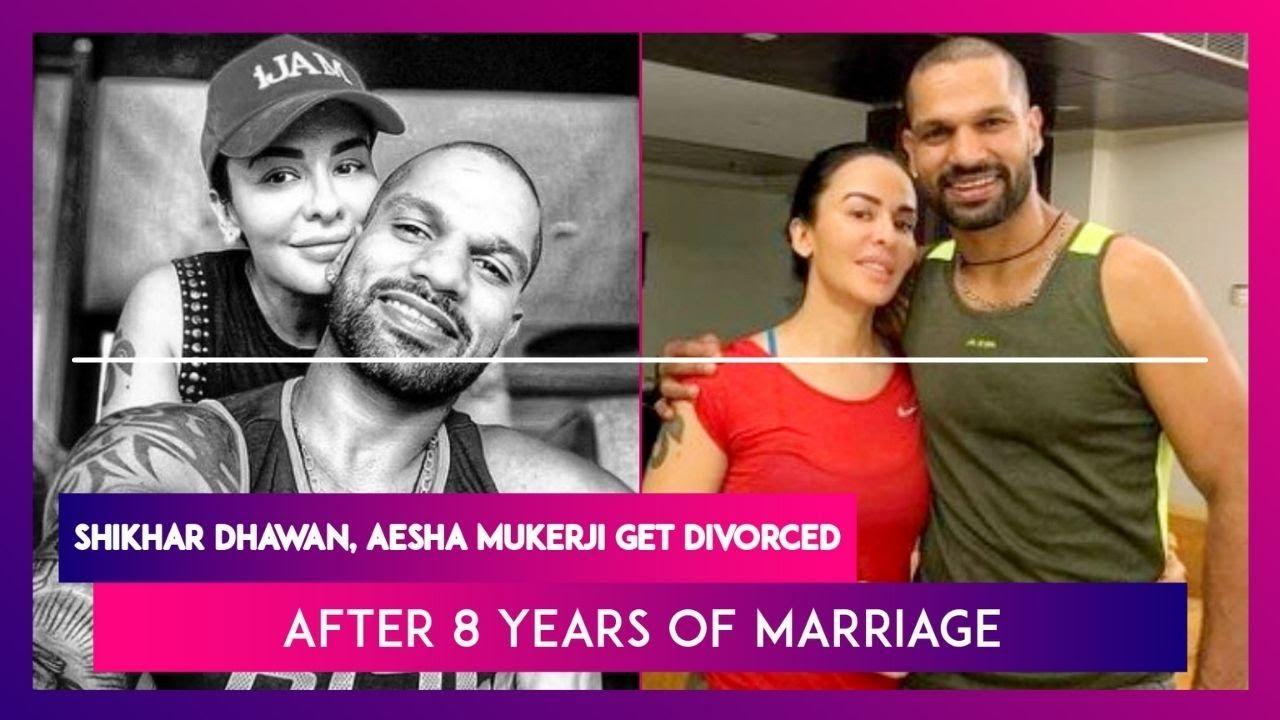 Shikhar Dhawan and Aesha Mukerji split up after eight years of marriage