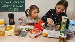 KUIVA RUOKA VS. MÄRKÄ RUOKA HAASTE