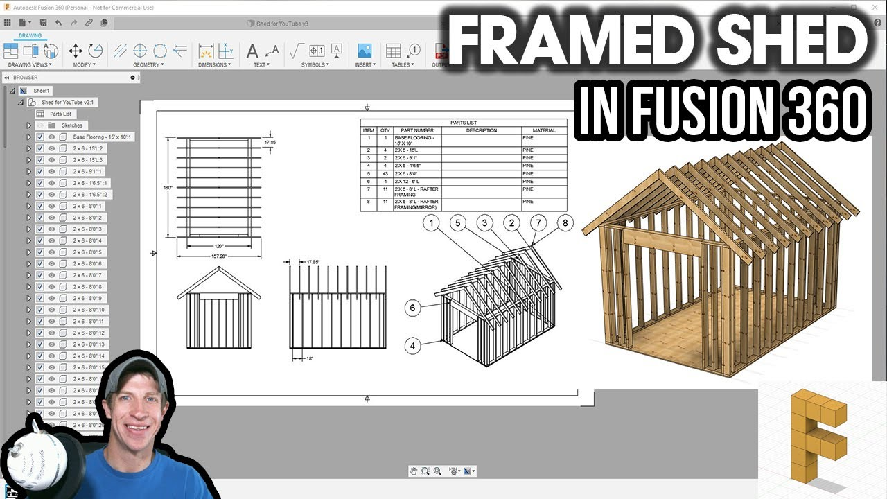 Modeling A Floor Plan From An Image In Fusion 360 Fusion 360 For Architecture Part 2 Youtube