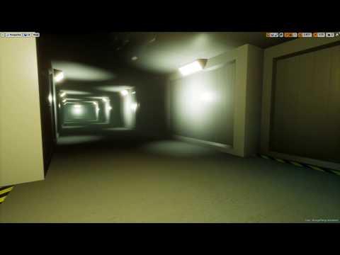 Unreal Engine 4 Stranger Things Hawkins National Laboratory hallway