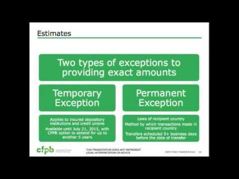 CFPB Remittance Rule (Regulation E)