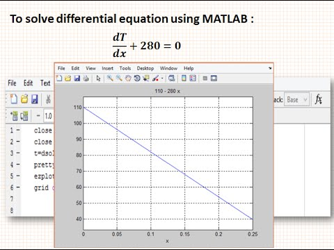 How to solve differential equation using MATLAB - Fourier's Law of heat  conduction