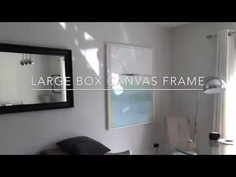 Easy DIY frame for box canvas