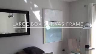 Easy DIY frame for box canvas