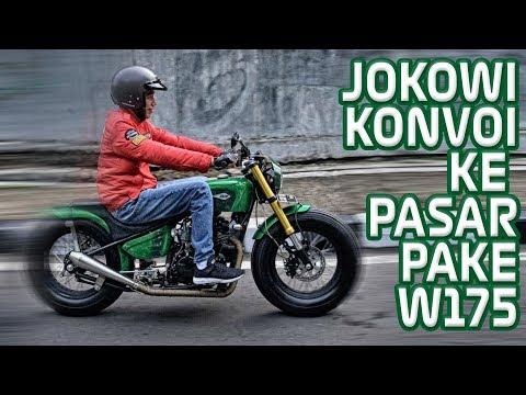 JOKOWI KE PASAR PAKE KAWASAKI W175 BARENG SKUTIK B0NGS0R Mp3