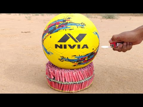 2000 Firecrackers vs Football experiment || Football survive or not || Experiment king