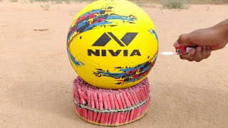2000 Firecrackers vs Football experiment Football survive or not Experiment king