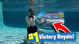 I Won a Game of FORTNITE UNDER WATER!! **NOT CLICKBAIT**