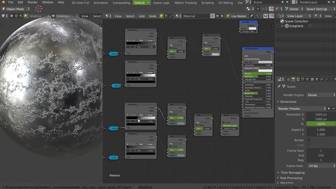 Blender - Eevee - Real time editing Materials