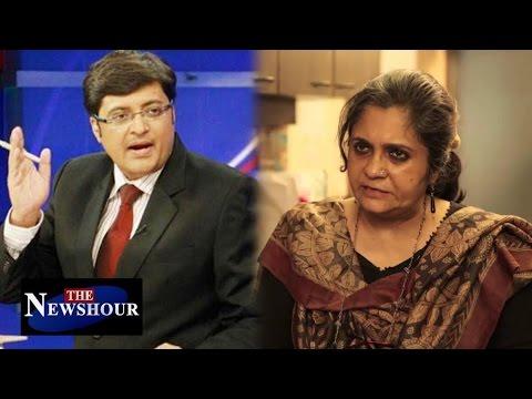 BJP Government Vs. Teesta Setalvad: The Newshour Debate (16th June 2016)