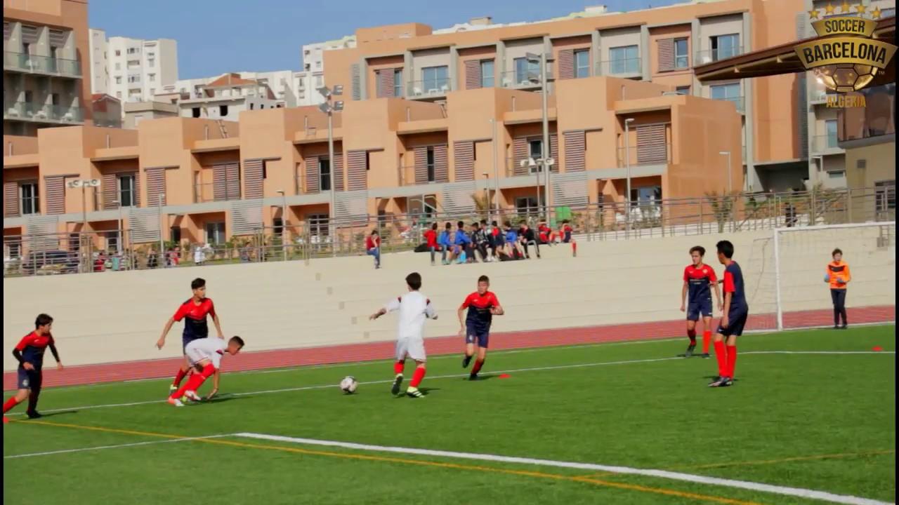 r u00e9sum u00e9 de match   soccer barcelona algeria u13 vs usmalger
